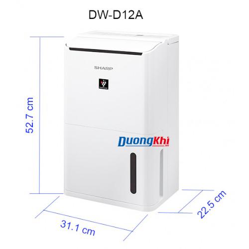 Máy lọc không khí và hút ẩm Sharp DW-D12A