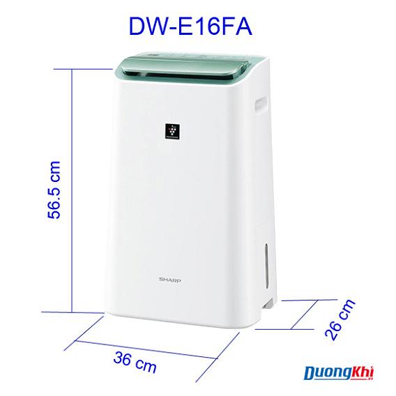 Máy lọc không khí và hút ẩm Sharp DW-E16FA